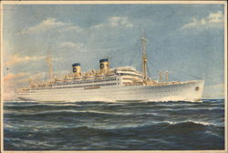 M.S. Italia of Home Lines at sea