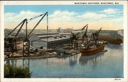 Manitowoc Shipyards, building, crane, ship