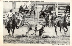 Allen Crainer Bulldogging, Clinton Booth Hazing in Rodeo Contest