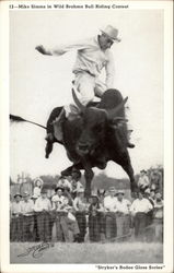 Mike Simms in Wild Brahma Bull Riding Contest