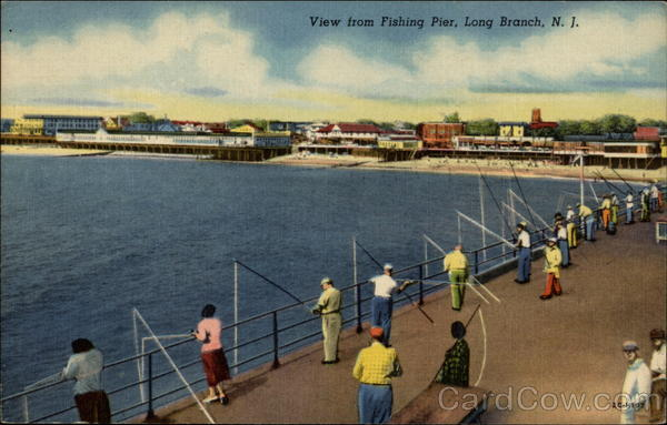 View from fishing pier long branch nj for Fishing in nj