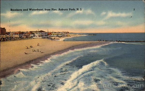 Breakers and Waterfront, from Pier Asbury Park New Jersey
