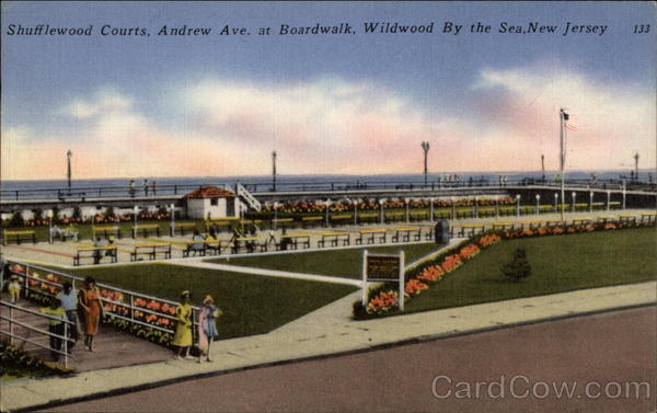 Shufflewood Courts, Andrew Ave. at Boardwalk Wildwood-By-The-Sea New Jersey