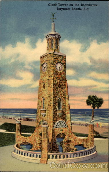 Clock Tower on the Boardwalk Daytona Beach Florida