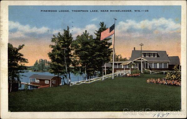 Pinewood Lodge, Thompson Lake Rhinelander Wisconsin