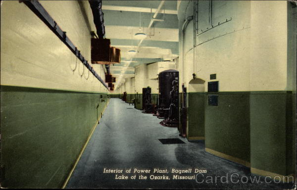 Interior of Power Plant at Bagnell Dam Lake Ozark Missouri