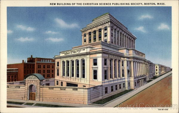 New Building of the Christian Science Publishing Society Boston Massachusetts