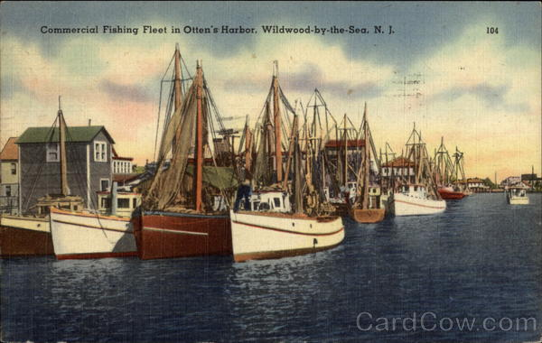 Commercial Fishing Fleet in Otten's Harbor Wildwood-by-the-Sea New Jersey