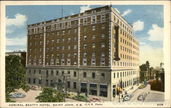Admiral Beatty Hotel Saint John New Brunswick