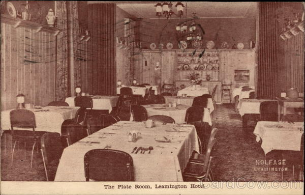 The Plate Room, Leamington Hotel Canada Ontario