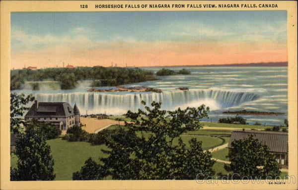 Horseshoe Falls of Niagra from Falls View Canada Misc. Canada