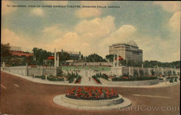 General View Of Oakes Garden Theatre Niagara Falls On Canada