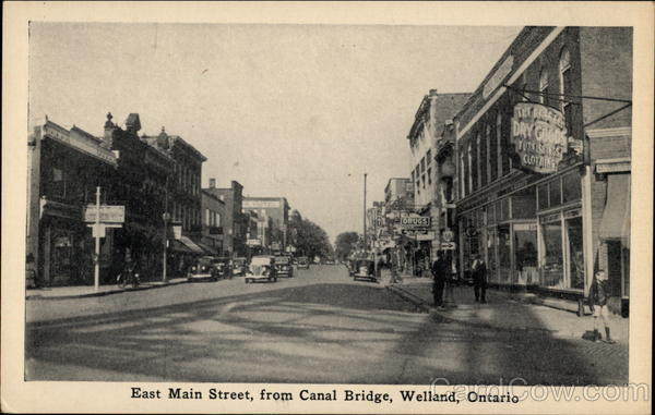 East Main Street, From Canal Bridge Welland Canada