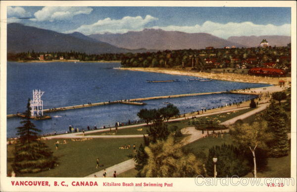 Kitsilano Beach and Swimming Pool Vancouver Canada