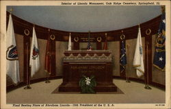 Interior of Lincoln Monument, Oak Ridge Cemetery
