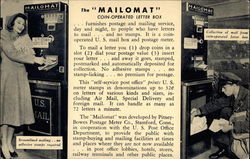 "The ""Mailomat"" coin-operated letter box"