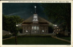 Administration Building at Night (Old Capitol), State University of Iowa City