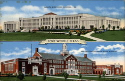 North Side High School and Arlington Heights High School Postcard