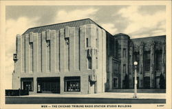 The Chicago Tribune Radio Station Studio Building Postcard
