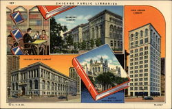 Chicago Public Libraries Postcard
