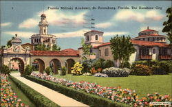 Florida Military Academy Postcard