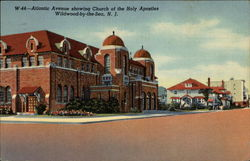 Atlantic Avenue showing Church of the Holy Apostles
