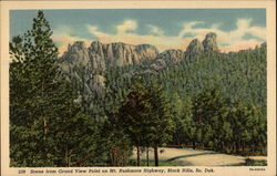 Scene From Grand View Point on Mt. Rushmore Highway