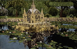When the pond lilies bllom at Petersen's Rock Garden between Bend and Redmond, Oregon
