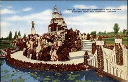 Castles and bridges, Petersen's Rock Garden between Bend and Redmond, Oregon