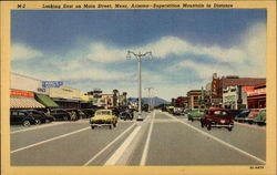 Looking East on Main Street- Superstition Mountain in Distance