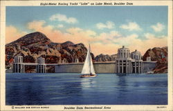 Eight Meter Racing Yacht on Lake Mead, Boulder Dam