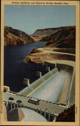 Arizona Spillway and Highway Bridge, Boulder Dam