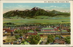 Bird's-eye View of Livingston, MT