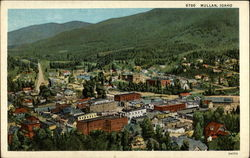View of Mullan, Idaho Postcard