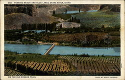 Perrine Ranch and Blue Lakes Postcard