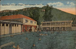 Bathing at Lava Hot Springs, near Pocatello, Idaho