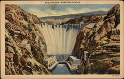 Boulder Dam -- Downstream Face