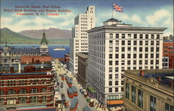 Granville Street, Post Office, Royal Bank Building and Rogers Building