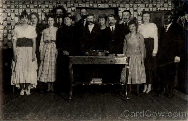 Theater Troupe - Cast of a Play Unidentified People