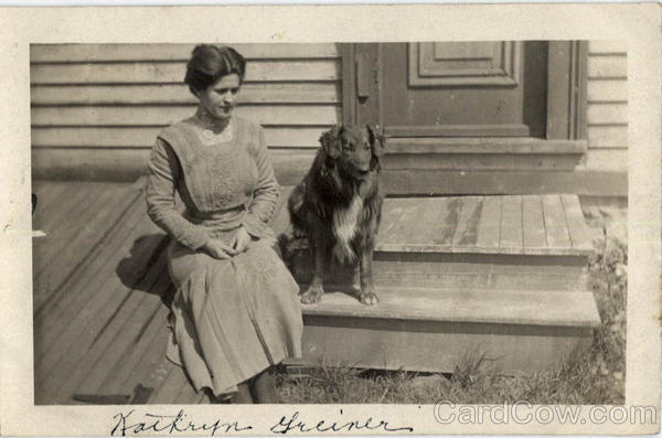 Kathryn Greiner - Woman with Dog Women
