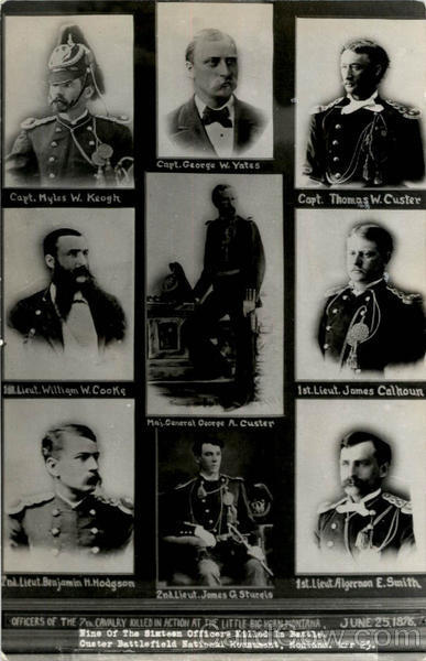 9 of the 16 Officers Killed in Battle Custer Military