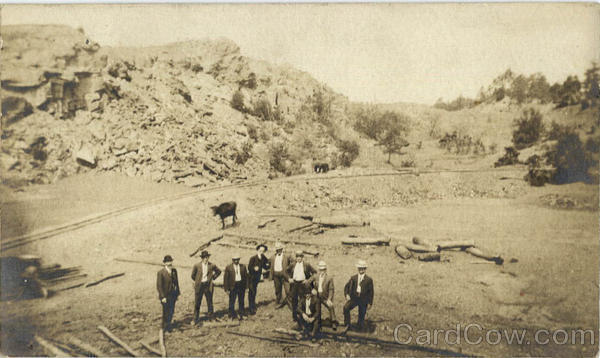 Group of Men, Miners Railroad Business & Company Photos