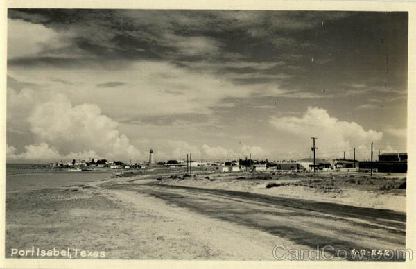 View of Port Isabel Texas Buildings
