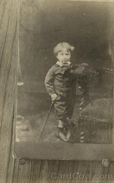 Photo of a Photo of a Young Boy Children