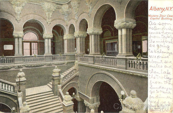 Western Stair Case, Capital Building Albany New York