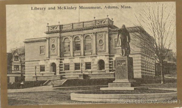 Library and McKinley Monument Adams Massachusetts