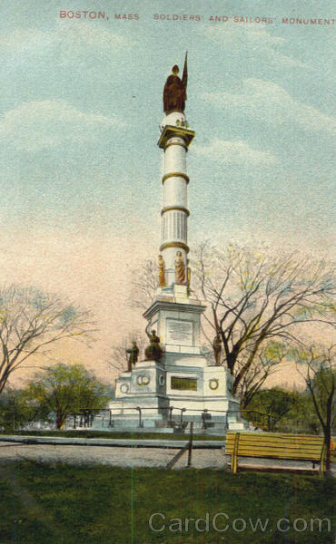 Soldiers and Sailors' Monument Boston Massachusetts