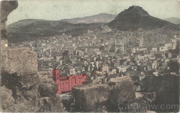 Athens and Lycabettus - Tinted Greece Greece, Turkey, Balkan States