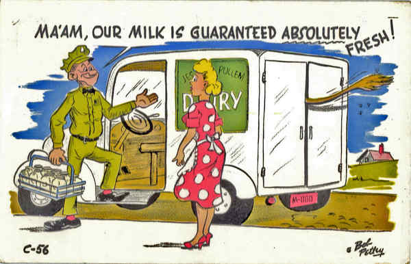 Ma'am, Our Milk is guaranteed absolutely Fresh! Comic, Funny