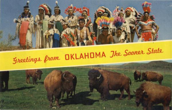 Greetings from Oklahoma The Sooner State Scenic Native Americana